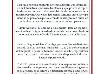 Introduction to Sigue Adelante: El Camino del Migrante (collection of poems by Ned Flanagan)