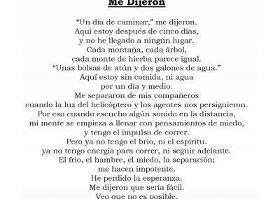 Me Dijeron (poem by Ned Flanagan)