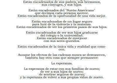 Esposados de la Oportunidad (poem by Ned Flanagan)