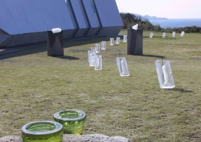 Japan, Flags ice sculpture (Ana Trucha)