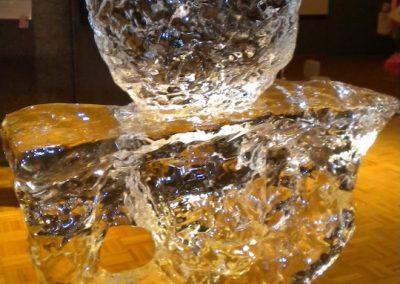 Detail of Limitless Boundaries ice sculpture (Ana Trucha)