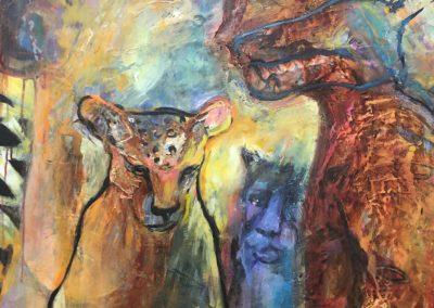 Boruka jaguar (painting by Kristen T. Woodward)